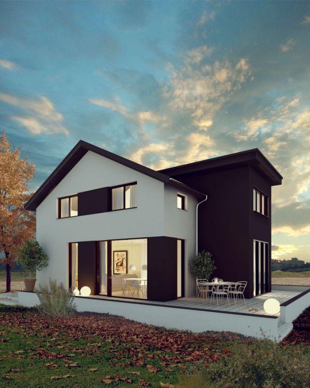 VILLA MODERNA - illustrazione fotorealistica di una villetta, realizzata con c4D, vray e photoshop