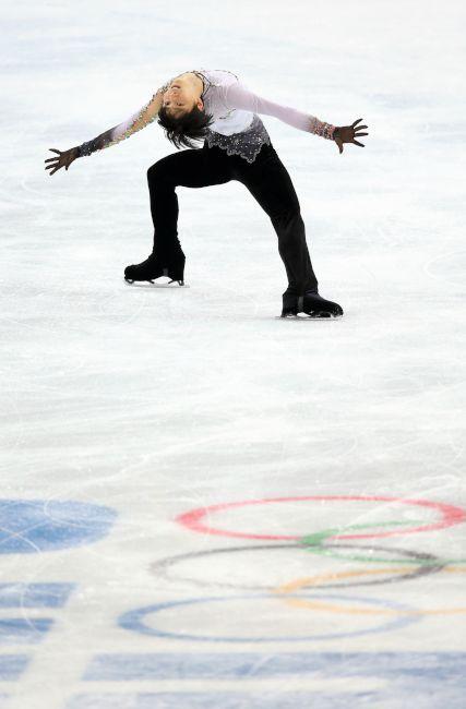 〈ソチオリンピック(男子フリー)〉 羽生結弦のフリーの演技=山本裕之撮影