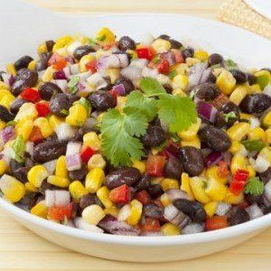 Southwestern veggies and black beans make a refreshing but satisfying salad.