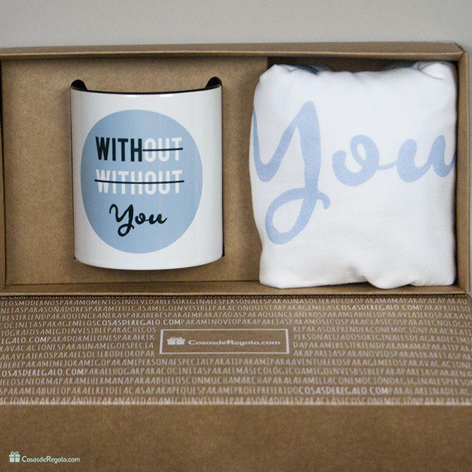 Pack de camiseta y taza With you para hombre