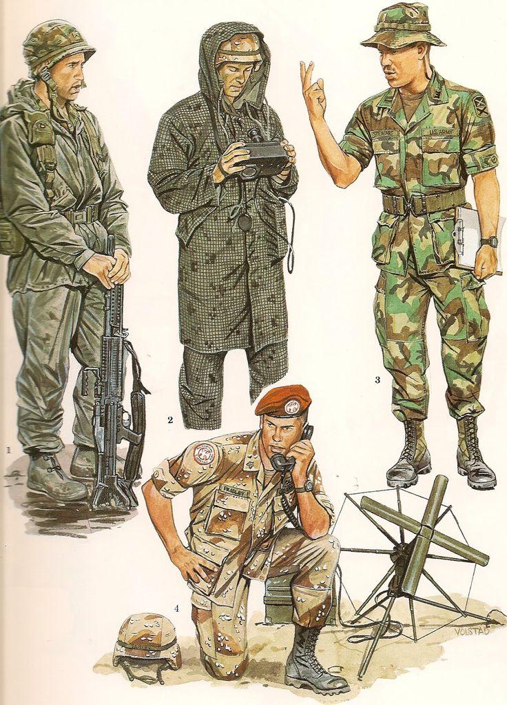 Army Uniform Desert Night   EL EJERCITO NORTEAMERICANO (THE US ARMY ) fuente = Biblioteca Militar ...