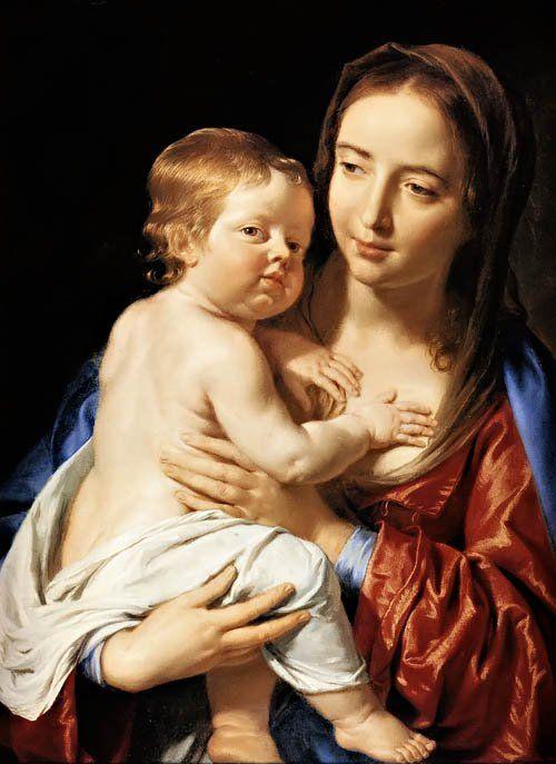 Philippe de Champaigne (1602-1674) — Madonna and Child (500×687)