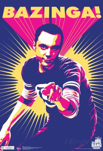 Big Bang Theory Sheldon Bazinga Television Poster Affiche
