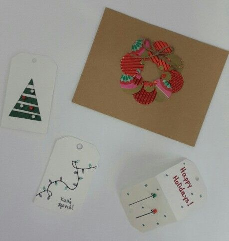 DIY Christmas cards and gift tags
