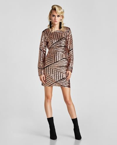 NYE SEQUIN DRESS-Mini-DRESSES-WOMAN-SALE   ZARA United States