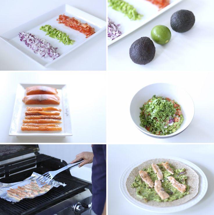 oppskrift på laksewrap med god guacamole