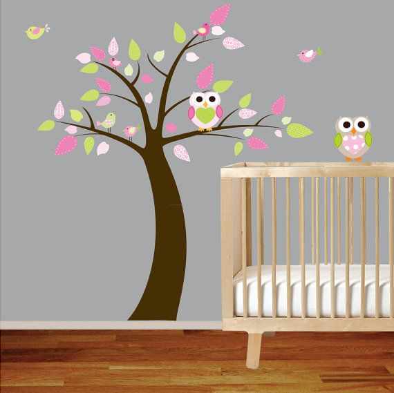 Owl nursery decal--holy crap! I love/want this if i am blessed with a girl child!