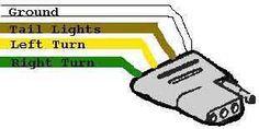 Trailer    Wiring       Diagram    light plug brakes    hitch    4 pin way