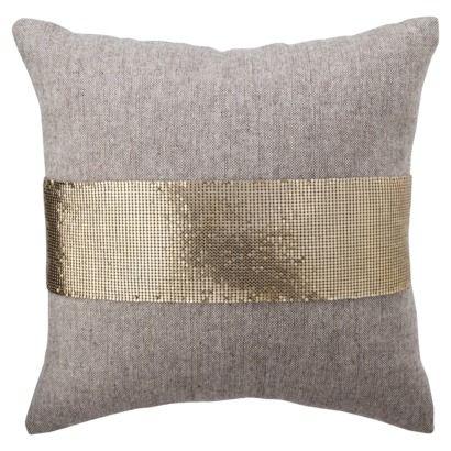 Nate Berkus for Target Gold Mesh and Tweed Pillow