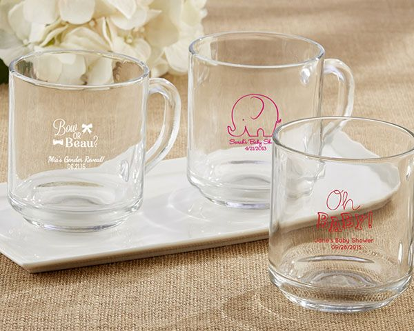 Personalized 10 oz Coffee Mug - Baby Shower - Personalized Favors by Kate Aspen