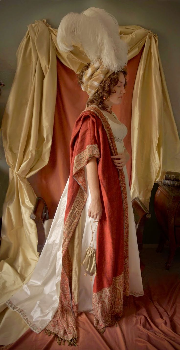 Festive Attyre: A Painted Empire Gown