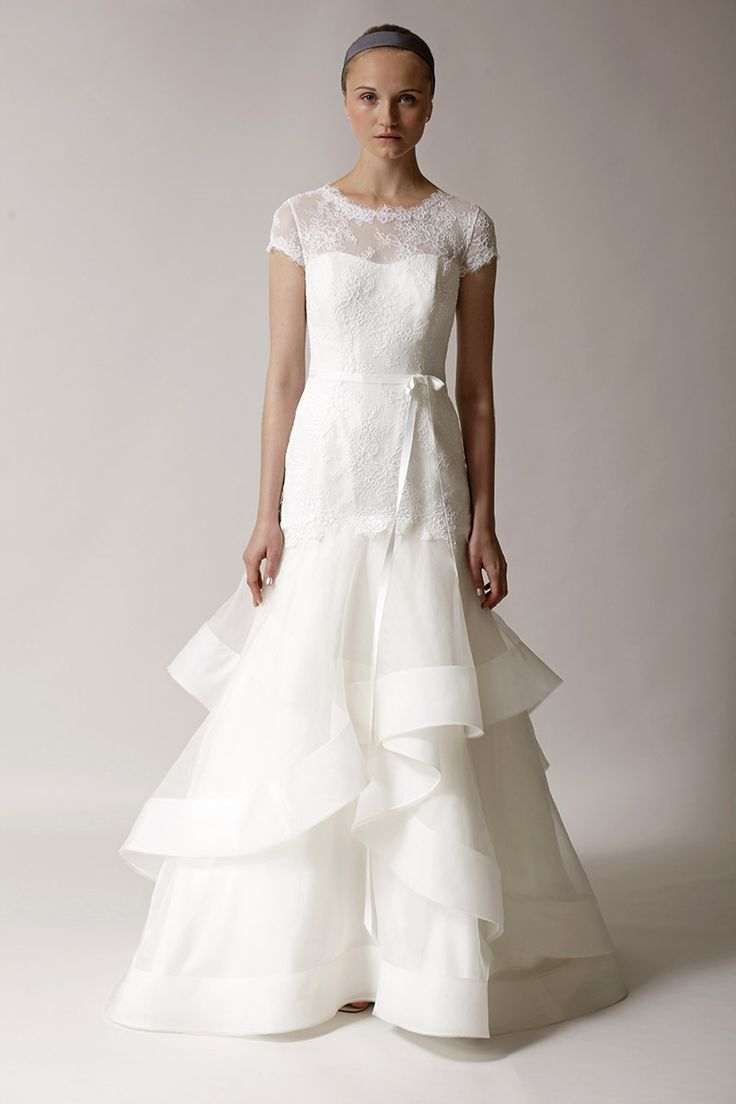 191 best bridal market fall 2014 images on pinterest wedding known for her sophisticated simple bridal gowns designer rita vinieris doesnt disappoint with the new designs in the alyne fallwinter 2014 collection ombrellifo Choice Image
