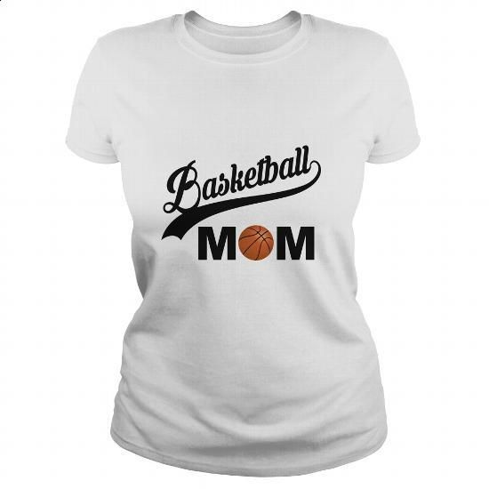 Basketball Mom - #sweatshirt #army t shirts. GET YOURS => https://www.sunfrog.com/Sports/Basketball-Mom-White-Ladies.html?60505
