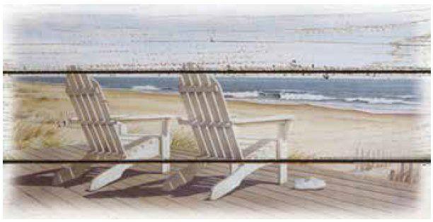 Canvas Schilderij Strandstoel - Canvasscherm.nl
