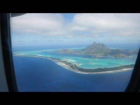 Flying from Papeete to Bora Bora via Air Tahiti airlines