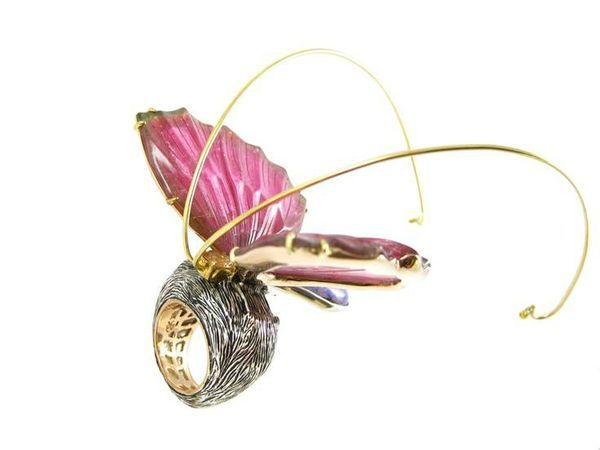 K. Brunini, tourmaline butterfly ring, Couture Design Awards 2013