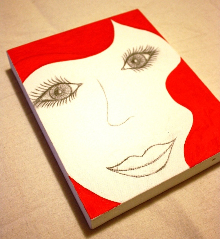 Lovely Lady Canvas Red by meteorabycosi on Etsy, $35.00