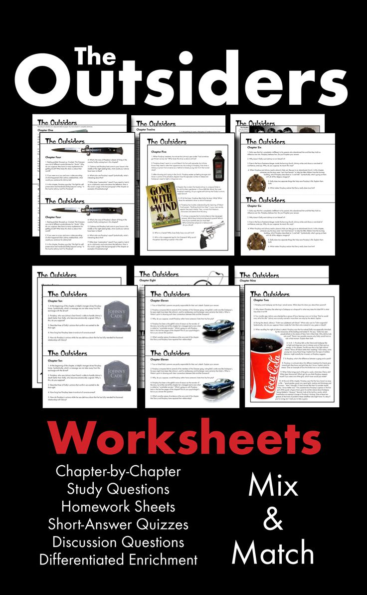 best images about the outsiders student outsiders worksheets quizzes homework discussion s e hinton s novel ccss