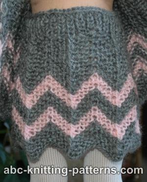 KNIT - Free Pattern - American Girl Doll Chevron Skirt