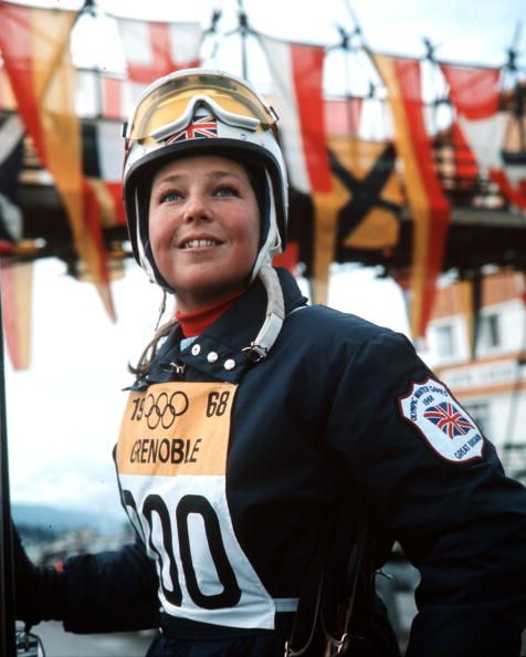 Team GB skier Gina Hathorn at the 1968 winter Olympic Games in Grenoble