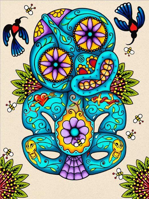 Moko-Tiki - Lester Hall Art                                                                                                                                                                                 More