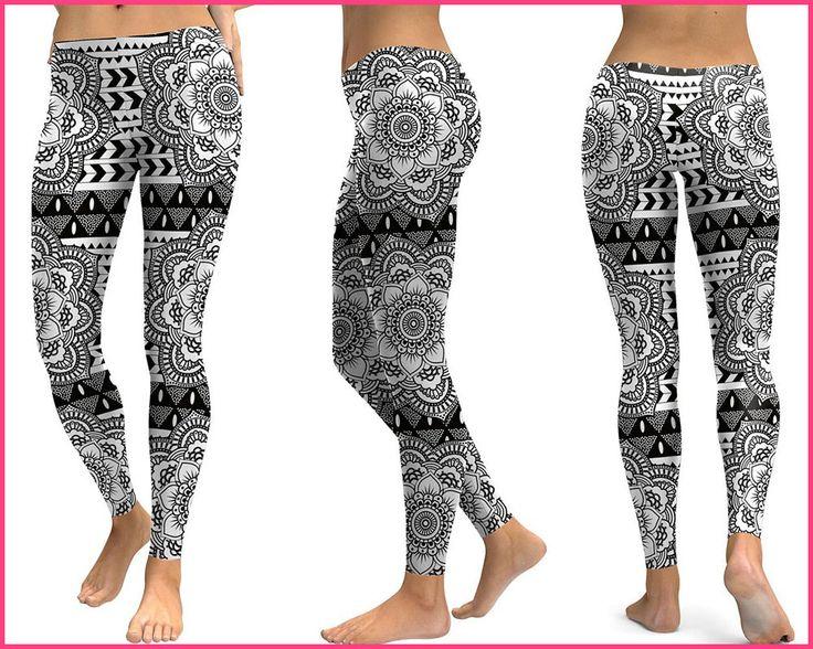 Now selling: Lotus Mandala Flowers Printing Black & White Women #Leggings  25% OFF! Use the code FEST25. Shop here: http://bit.ly/2hp1kLP More: http://bit.ly/2mhyAtZ
