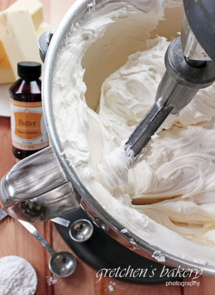 A cross between Swiss Buttercream and American Buttercream!  this is the perfect balance!
