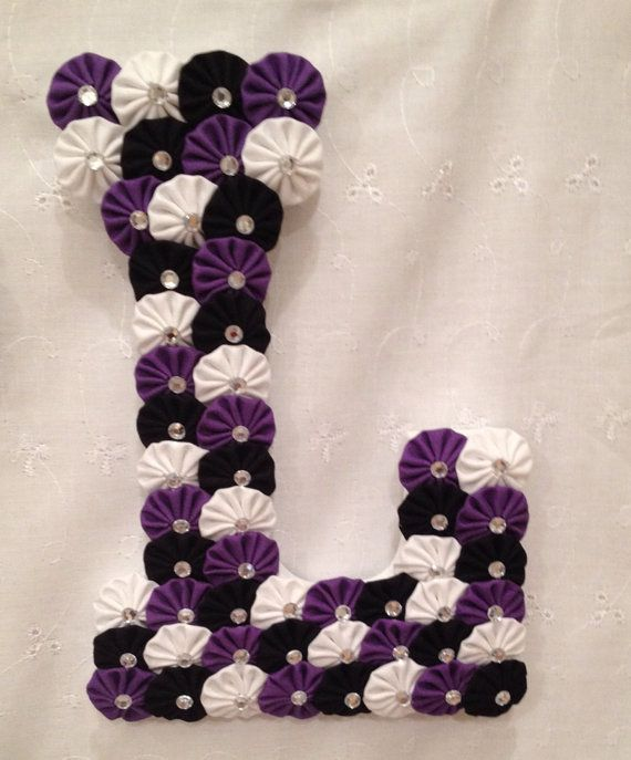 9 inch Wooden Letter covered with fabric by EmbellishMeCreations, $22.50