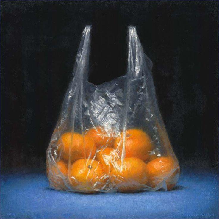 'Oranges' Oil on Linen 40 x 40 cm. by Conor Walton