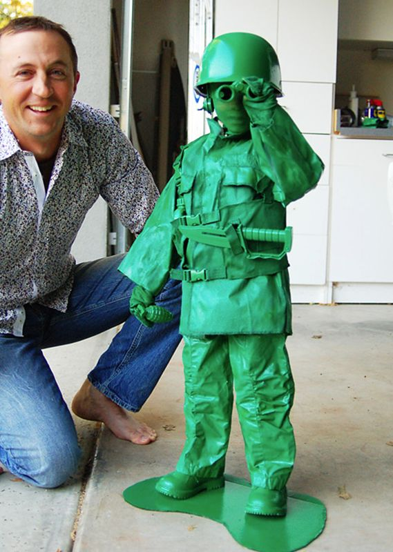 i still think green army man is a brilliant costume idea green army man childs home made costume - Good Halloween Costumes For Big Guys