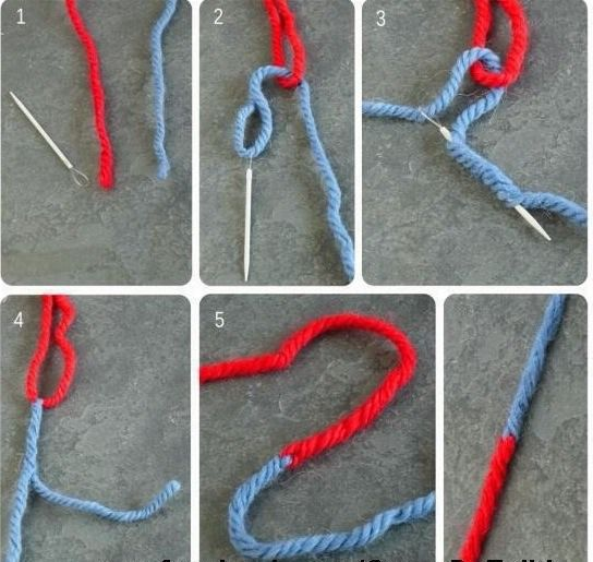 The Russian Knot- How To Tie Yarn Without A Knot
