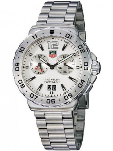 Tag Heuer Formula 1 Automatic Stainless Steel Black Ceramic Bracelet Watch WAU111C.BA0869