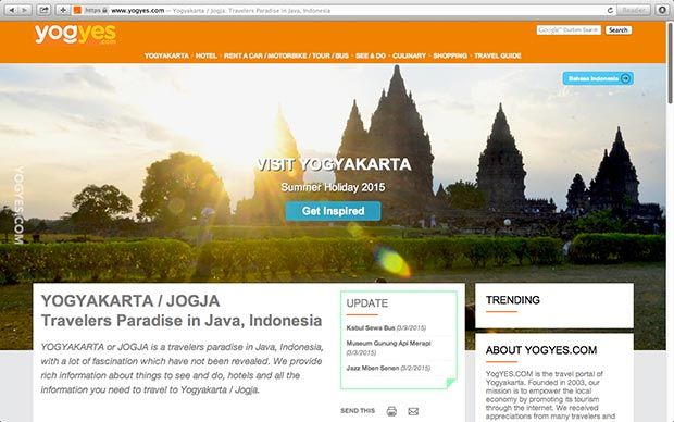YOGYAKARTA or JOGJA is a travelers paradise in Java, Indonesia, with a lot of fascination which have not been revealed. We provide rich information about things to see and do, hotels and all the information you need to travel to Yogyakarta / Jogja.