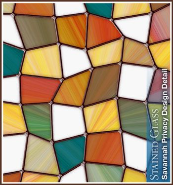 Savannah Privacy Stained Glass Window Film