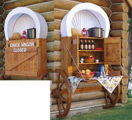 A chuck wagon cabinet