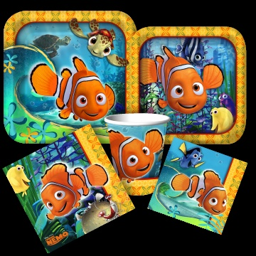 Finding Nemo party supplies from www.DiscountPartySupplies.com. Redesign due out this summer.