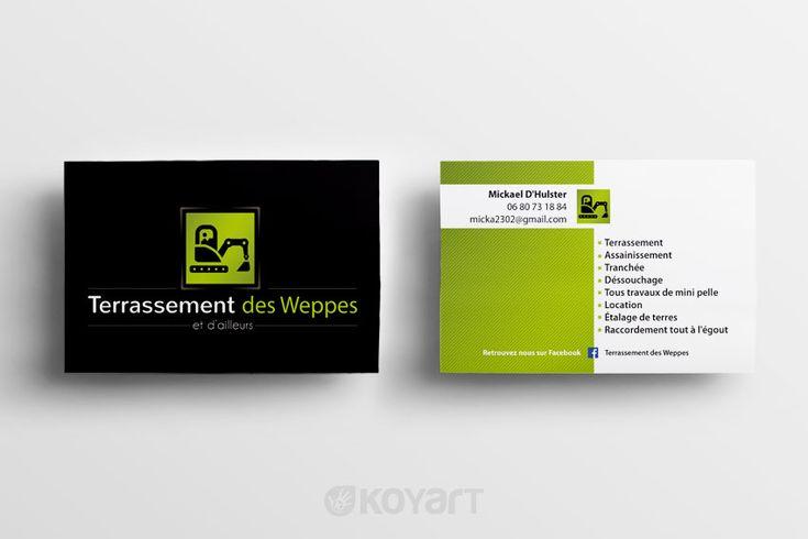 Création carte de visite Terrassement des Weppes | KOYART