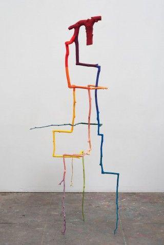 EvanHolloway Inverted Tree#1, 2012 Bronze, cel-vinyl 162,6 × 66 × 63,5 cm | 64 × 26 × 25 in.