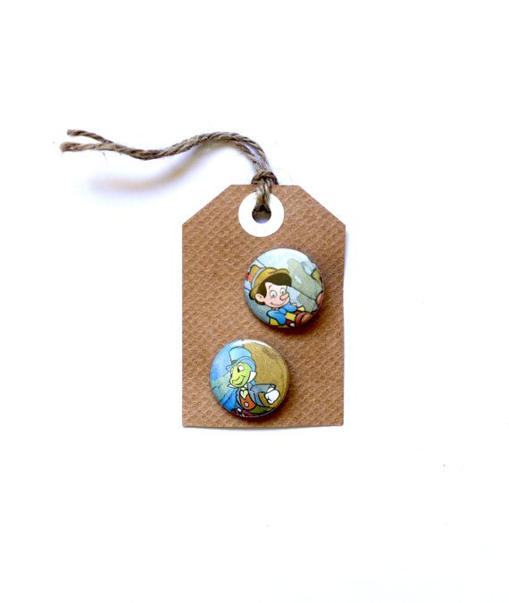 Pinocchio and Jiminy Cricket twin set on swing by HarrysSuitcase