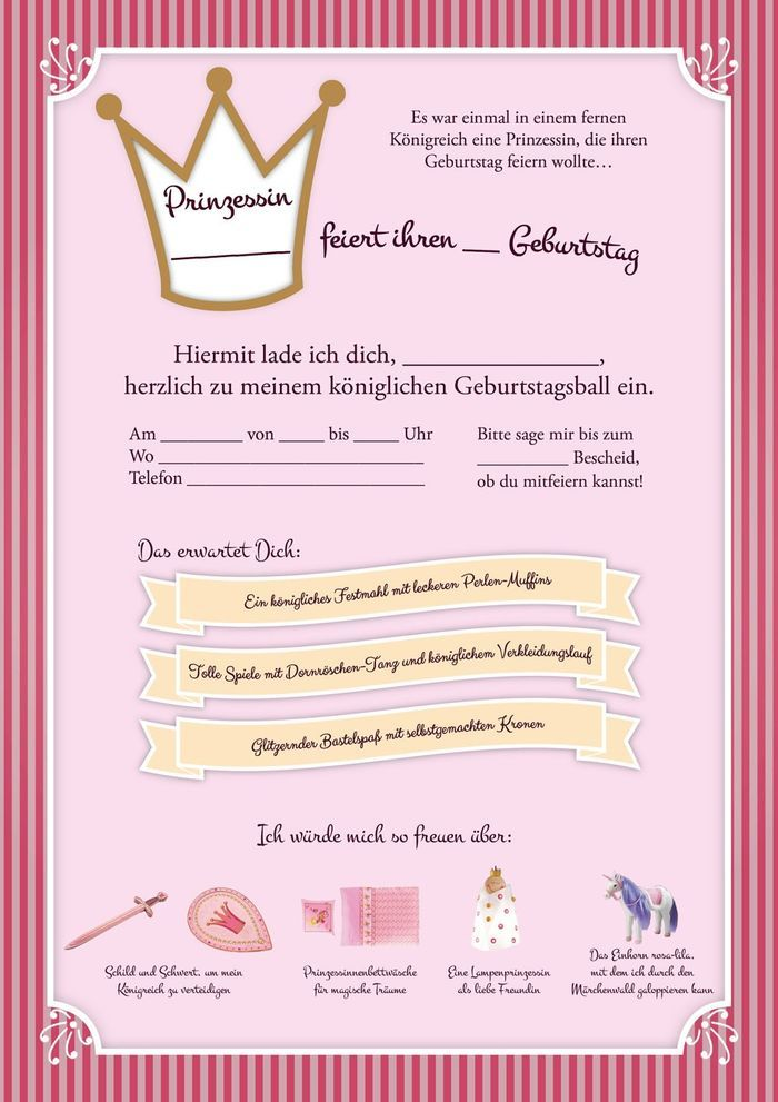 25+ best ideas about prinzessin geburtstag on pinterest, Einladung