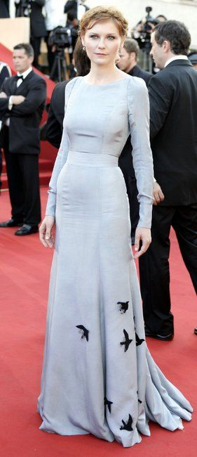 Kirsten Dunst looking ethereal in Olivier Theyskens for Rochas.