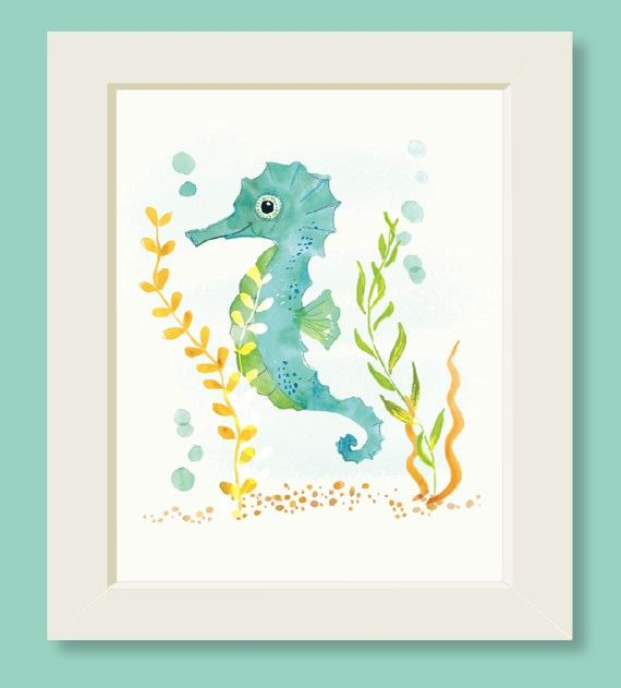 seahorse print for baby's nursery!