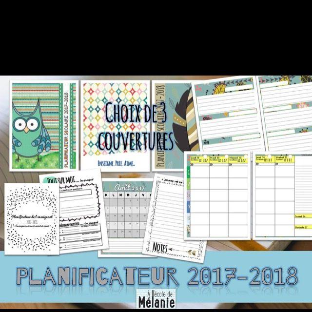 Planificateur scolaire 2017-2018