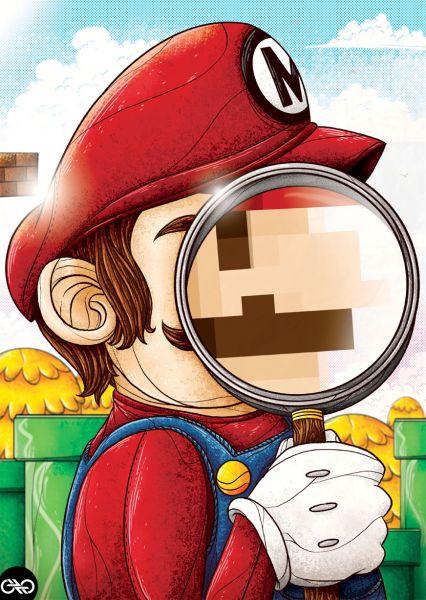 The Real Mario by Marco Pichardo: Real Mario, Nerd, The Real, Videos Games, Marco Pichardo, Supermario, Art Show, Super Mario, Mario Bros