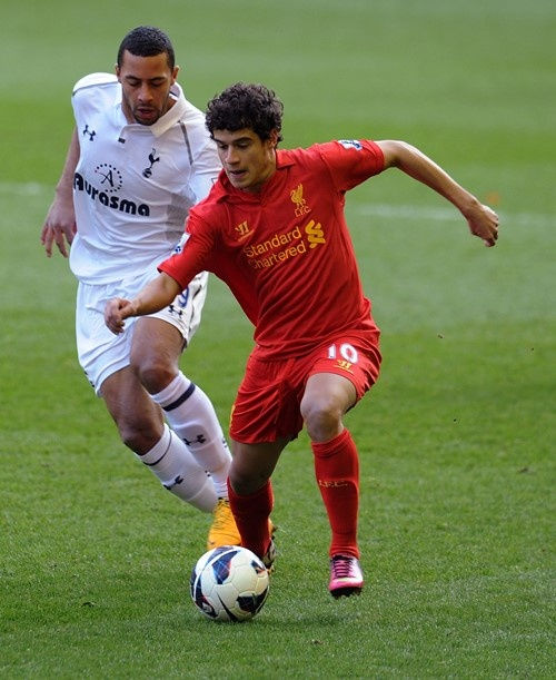 Coutinho in action against Tottenham at Anfield
