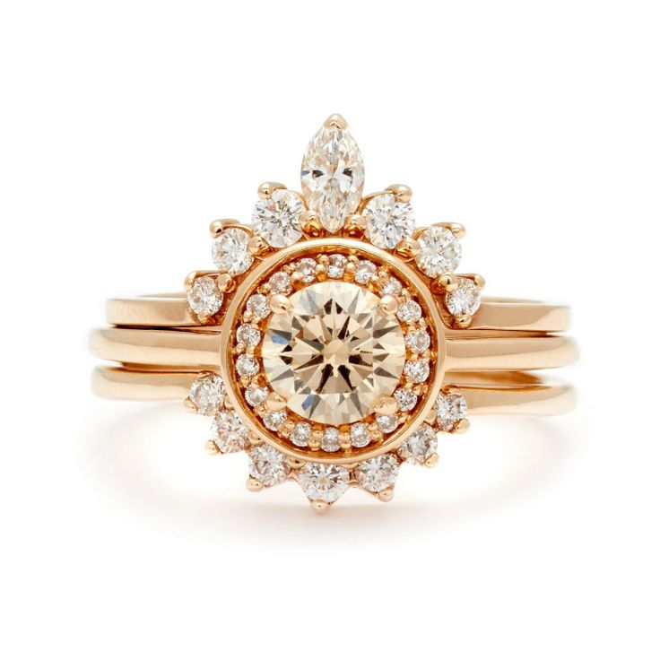 Anna Sheffield champagne and white diamond ring, $9,350, annasheffield.com. -Wmag