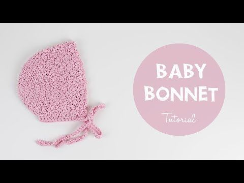 How To Crochet Cute And Easy Baby Bonnet | Croby Patterns - YouTube