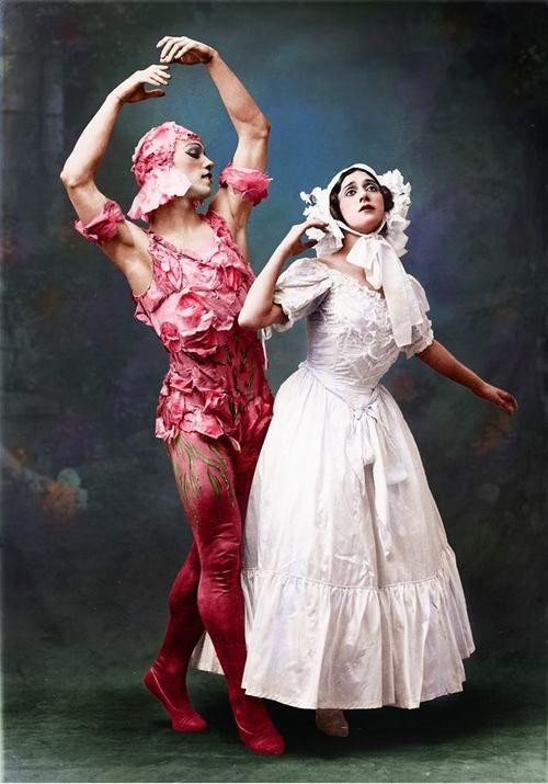 Vaslav Nijinsky and Tamara Karsavina in costume for Le Spectre De La Rose, 1911 Tumblr