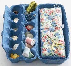 Voici quelques idées récup et recyclage pour vos boites d'oeufs.. J'ai remarqué que les couturières avaient toujours de très bonnes idées pour ranger leur matériel de couture. Découvrez quelques modèles de boites de rangement faites avec des boites d'oeufs, pour stocker, ranger, protéger nos...