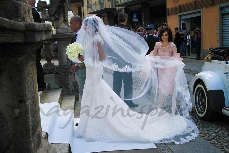 Samuel y Georgette Eto'o boda en Italia